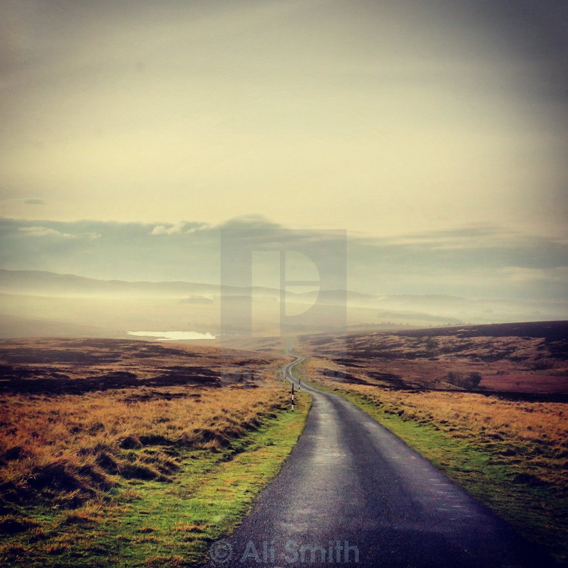 """Country Fell Road"" stock image"