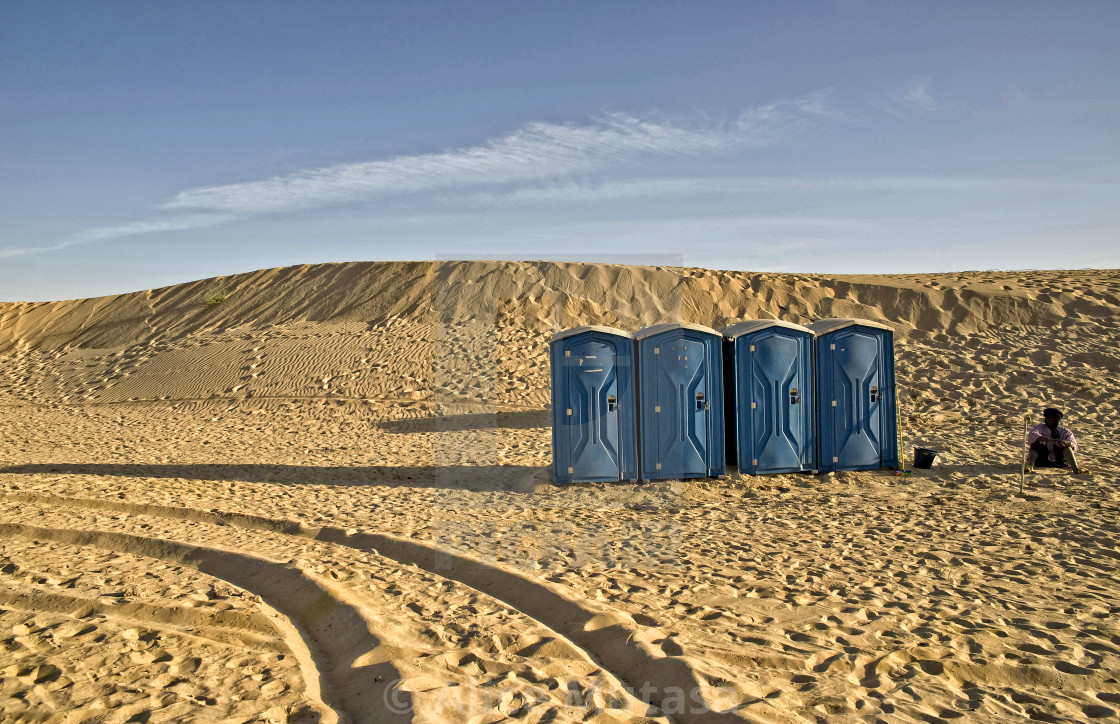Toilets in the desert; Timbuktu, Mali, West Africa