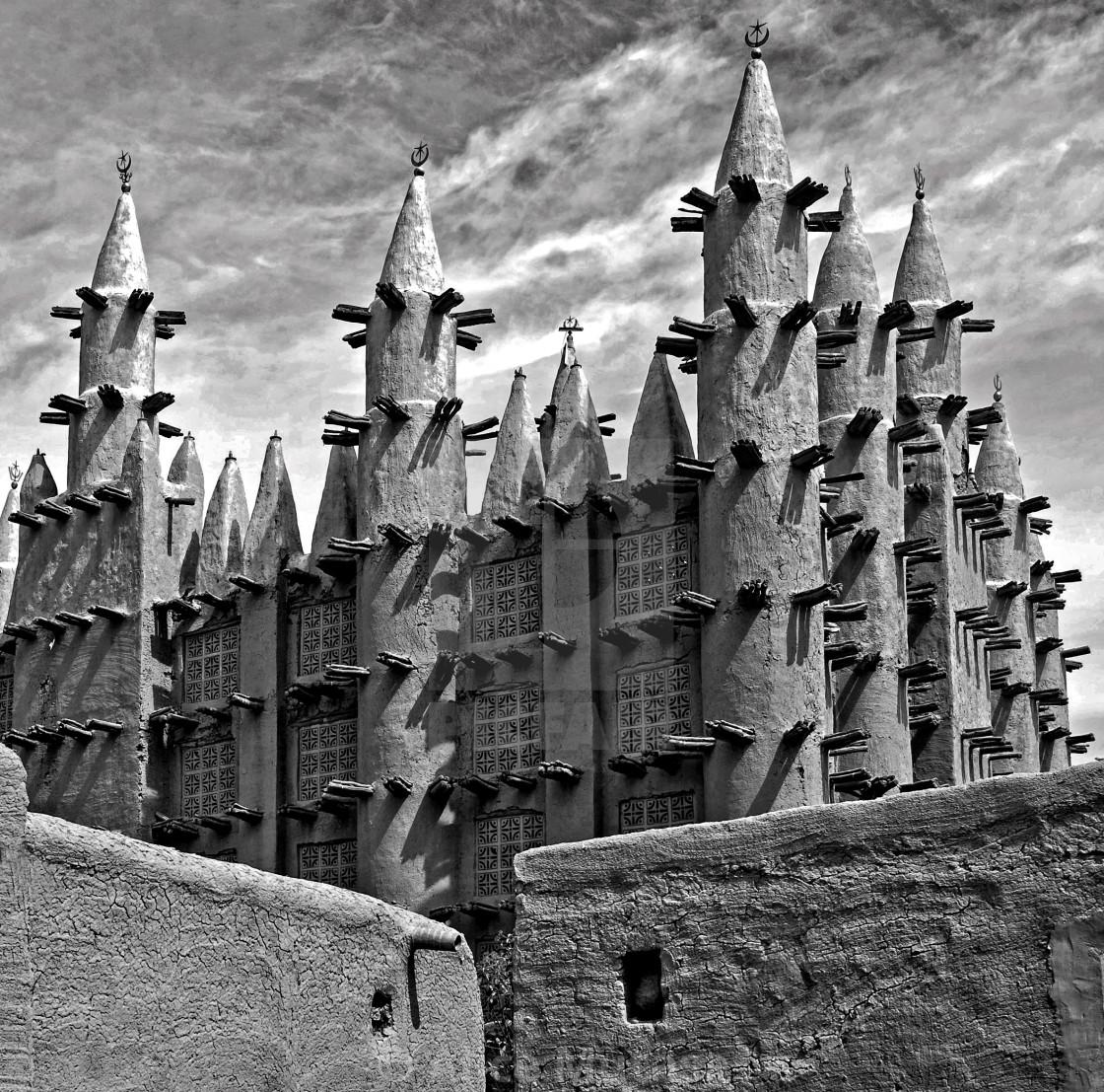 """Saba Mosque; Mali, West Africa"" stock image"