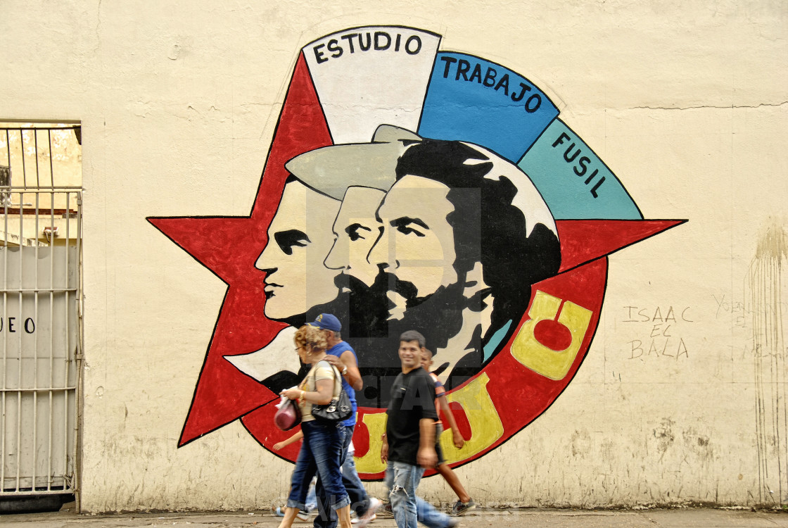 """Revolutionary mural; Havana, Cuba"" stock image"