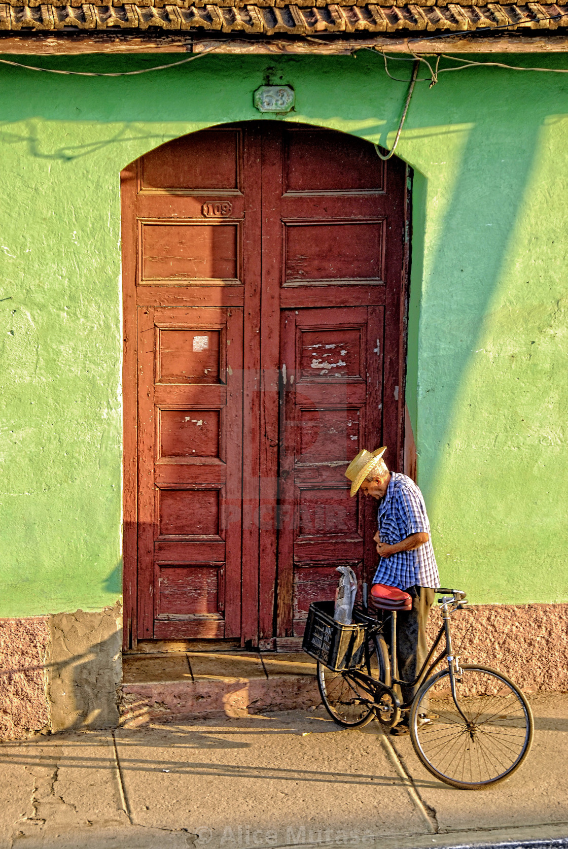 """Coming Home; Trinidad, Cuba"" stock image"