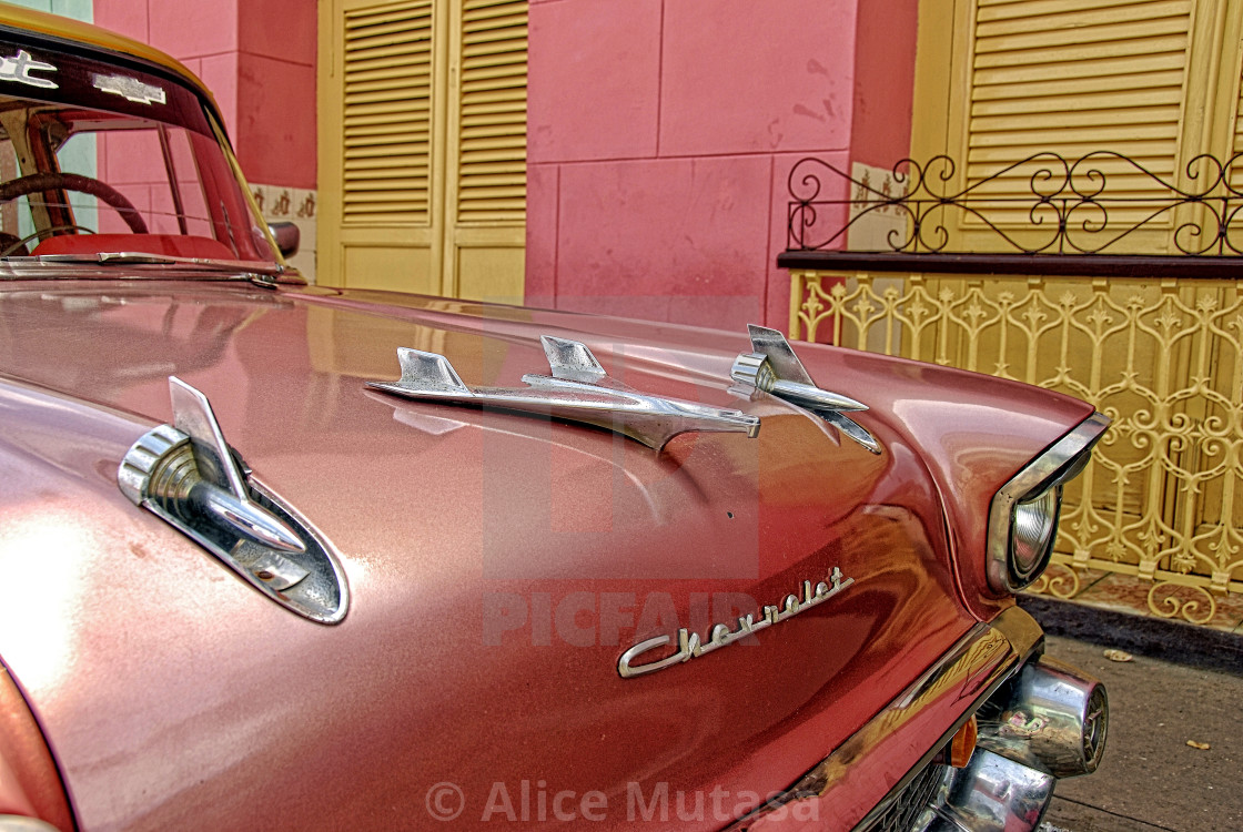 """""""Vintage Chevrolet, Trinidad, Cuba"""" stock image"""