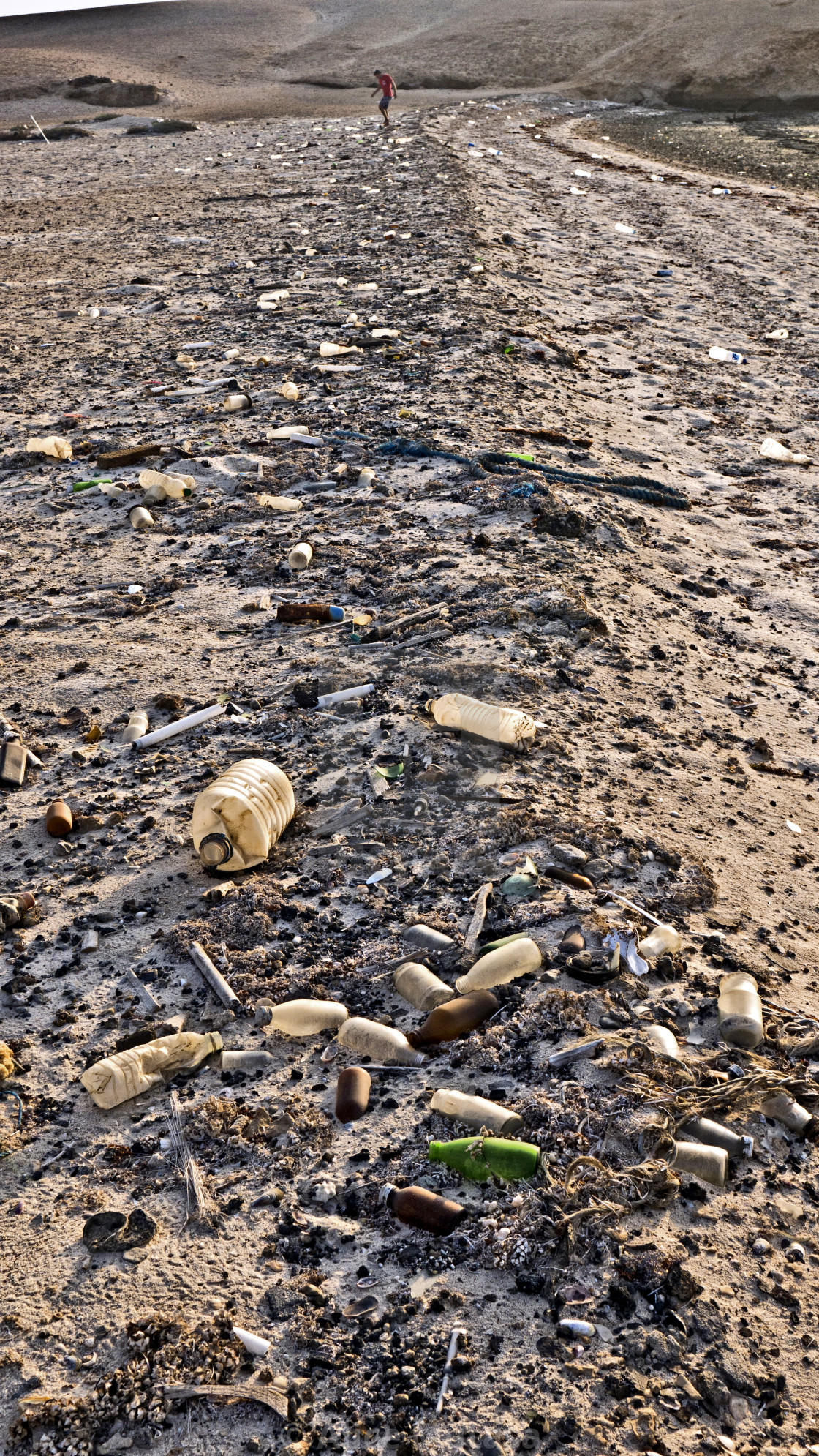 """Plastic waste on Gubal Island in the Egyptian Red Sea"" stock image"