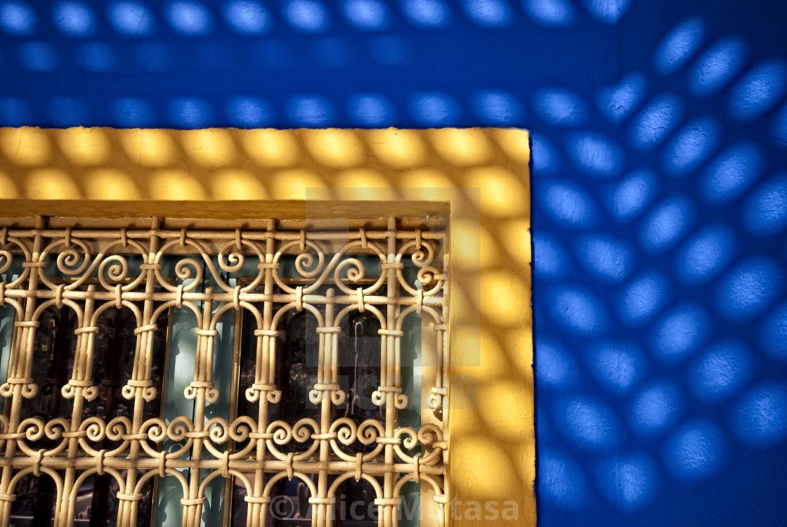 """Jardin Majorelle colours #03 Marrakech"" stock image"
