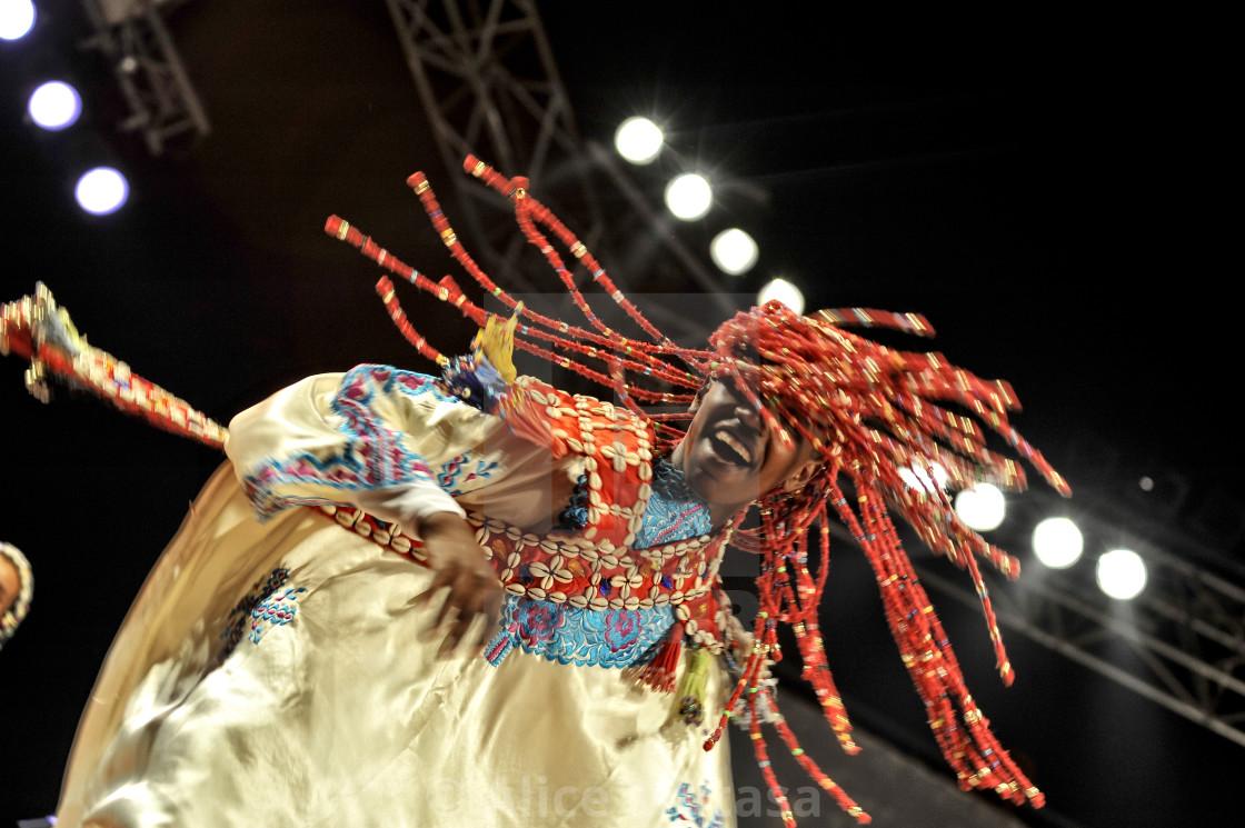 Gnaoua dancer; Essaouira, Morocco