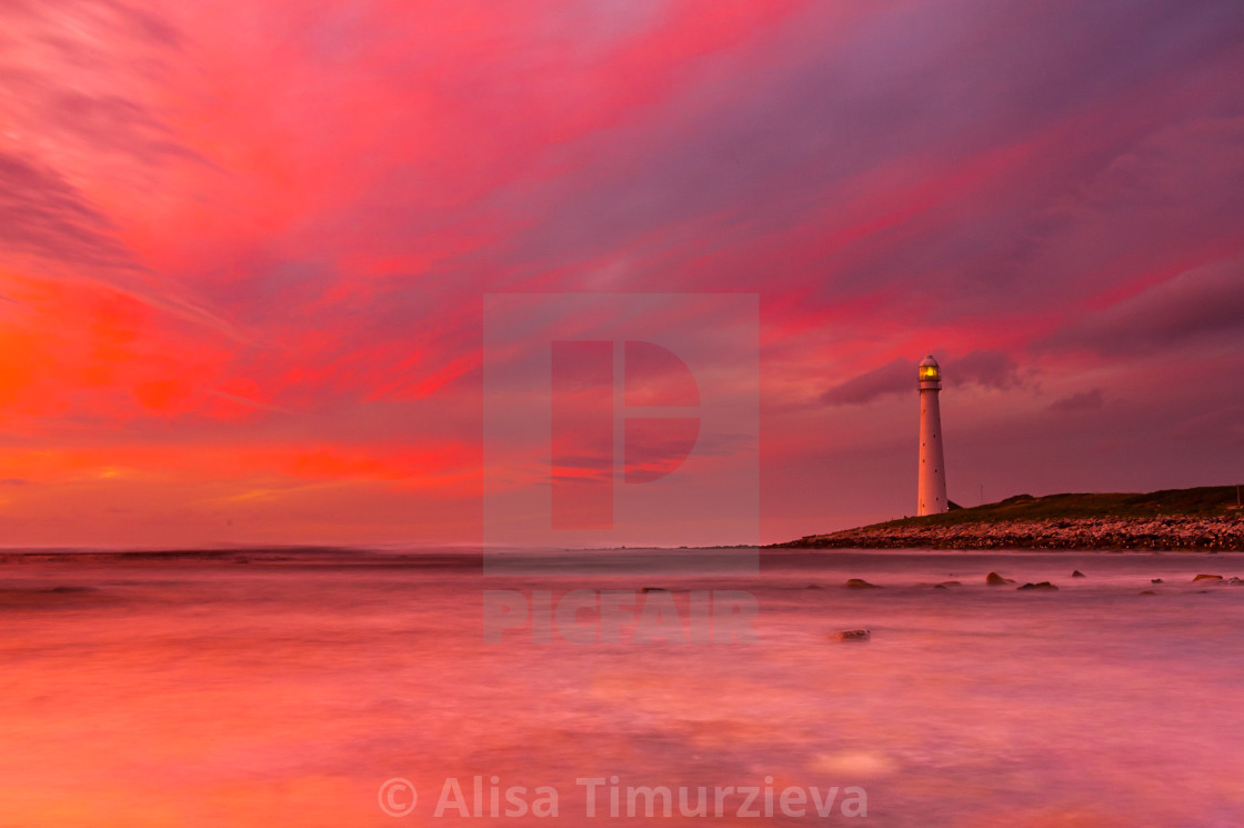"""""""Sunset in Kommetje, Western Cape, South Africa"""" stock image"""