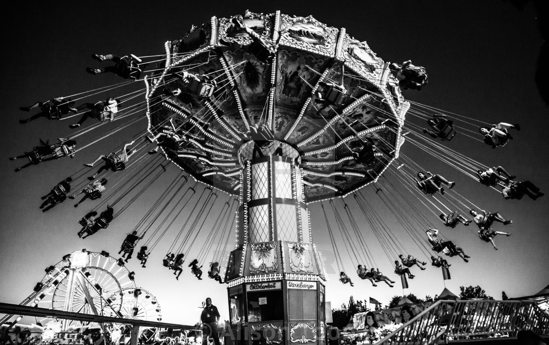 """Wave Swinger ride, California State Fair"" stock image"
