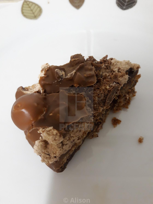 """Tempting Chocolate Cake"" stock image"