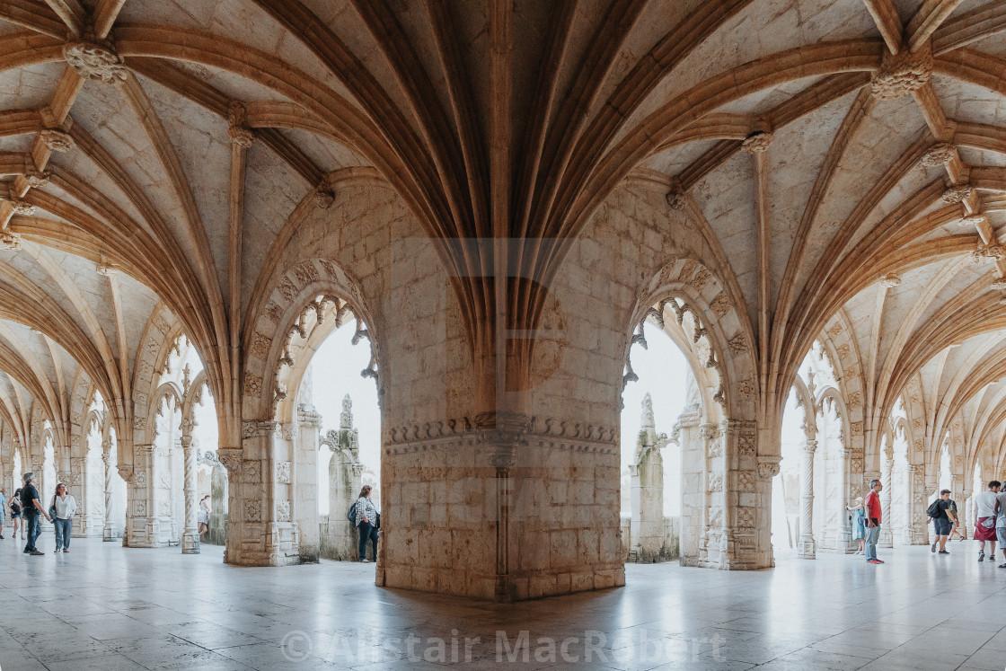 """Geometry: Santa Maria de Belem Church, Lisbon"" stock image"