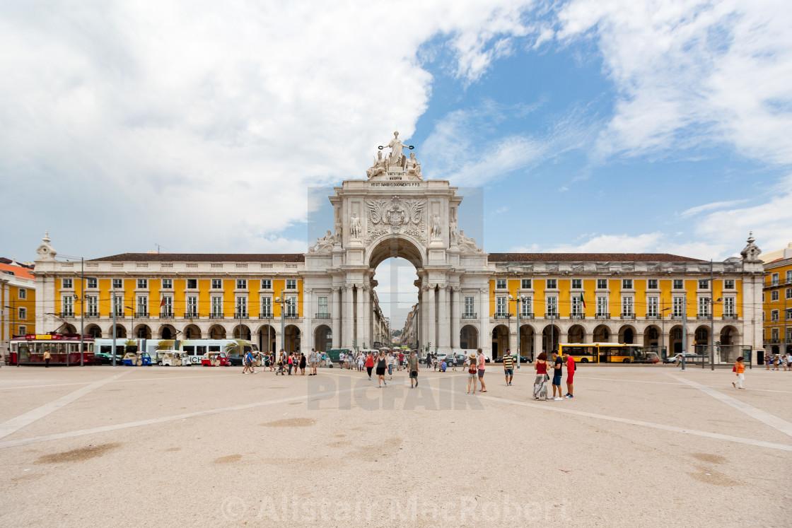 """Arco da Rua Augusta"" stock image"