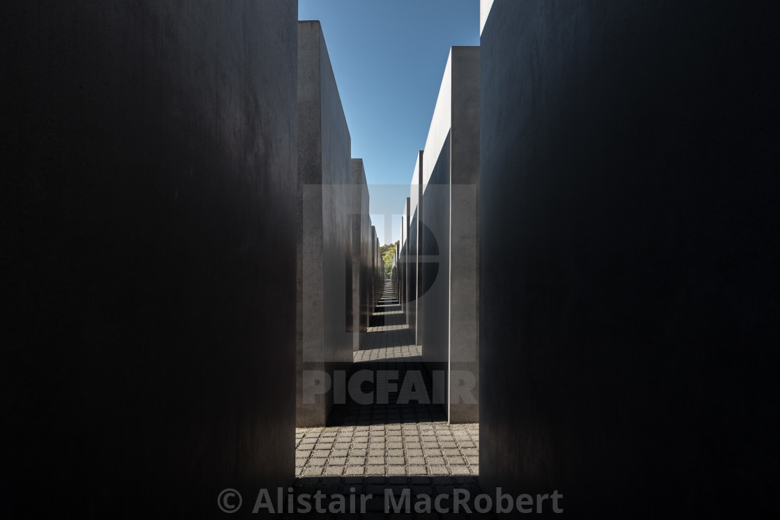 """""""Memorial to the Murdered Jews of Europe - Inner View"""" stock image"""