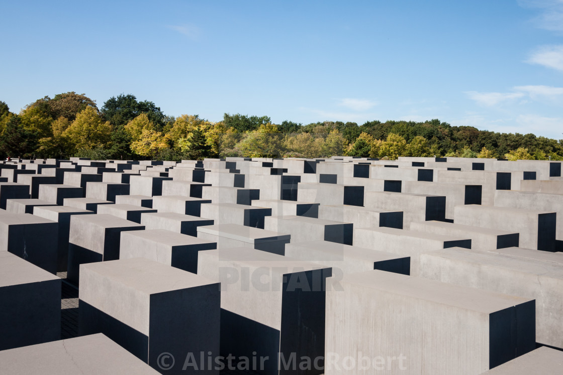 """""""Memorial to the Murdered Jews of Europe - Top View"""" stock image"""