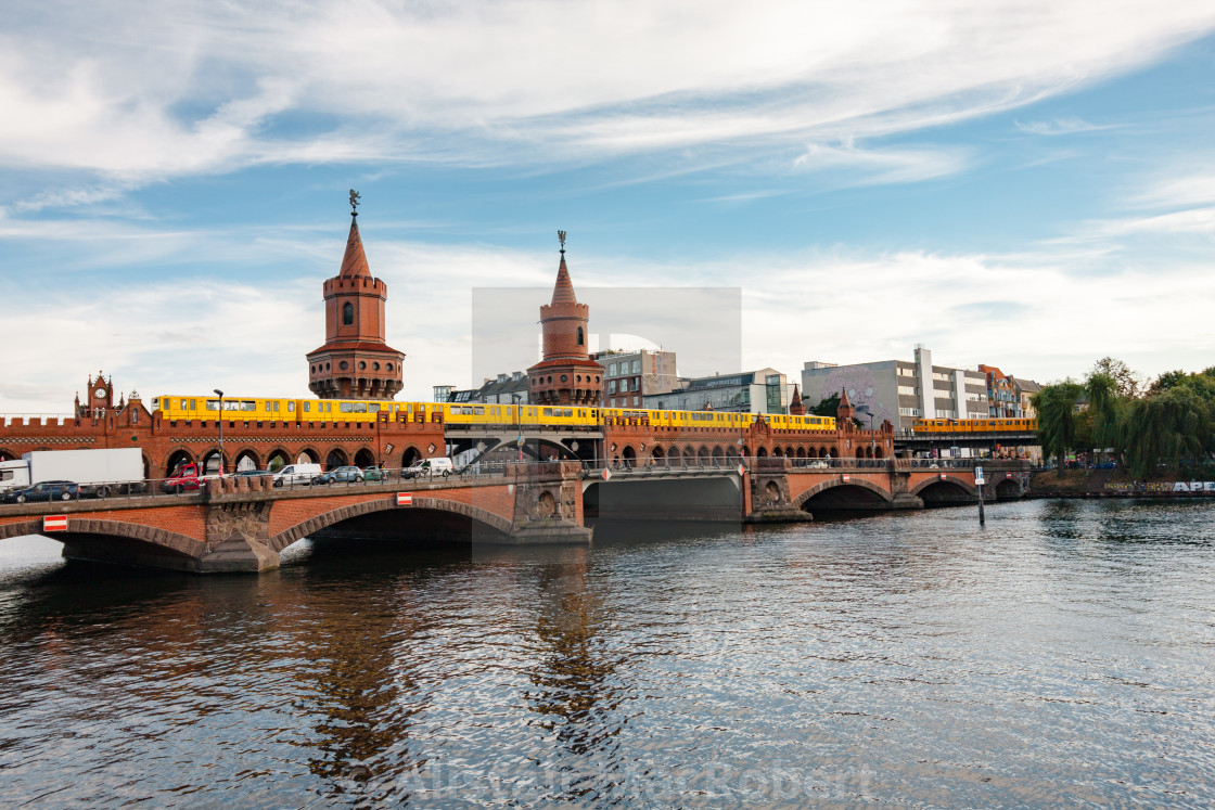 """Bridge over river Spree"" stock image"