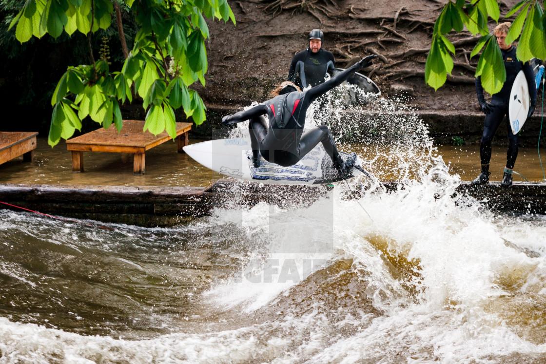 """River Surfer"" stock image"