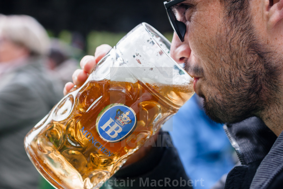 """Beer in Munich"" stock image"