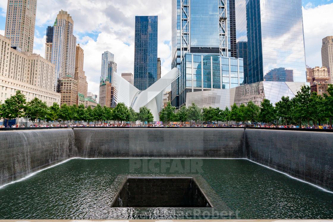 """911 Memorial (Straight)"" stock image"