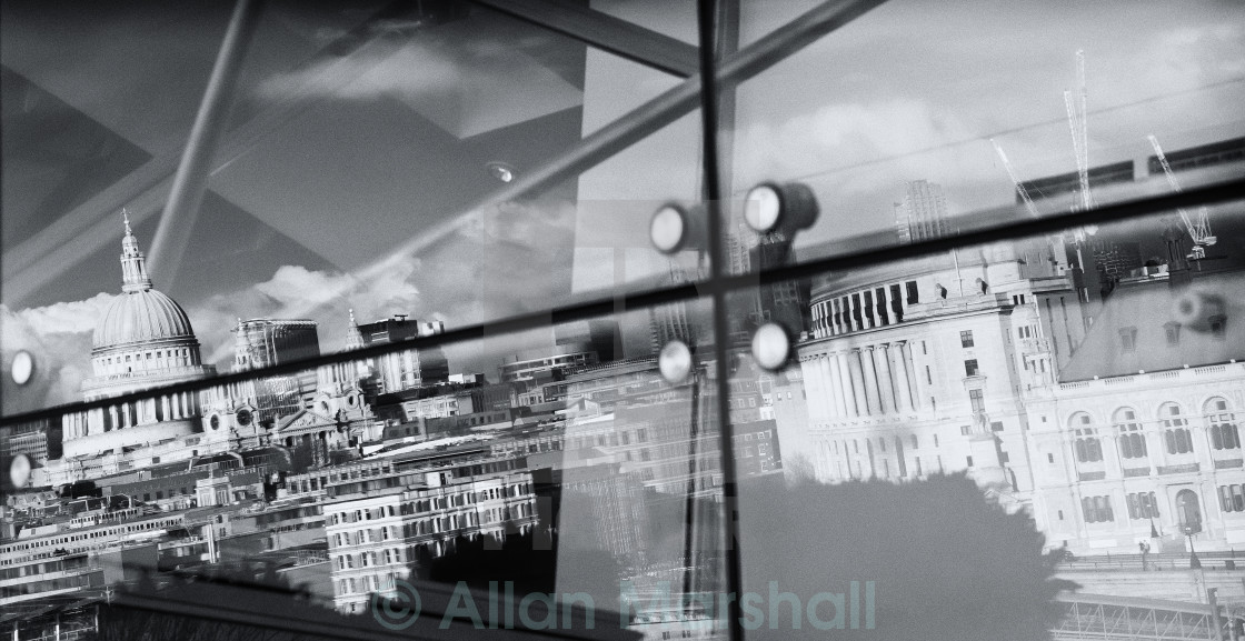 """Reflection of London"" stock image"