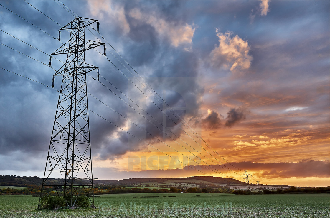 """Power lines"" stock image"