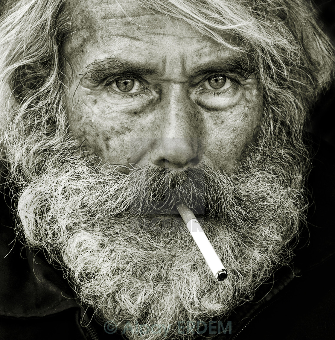 """Portrait of a fisherman"" stock image"