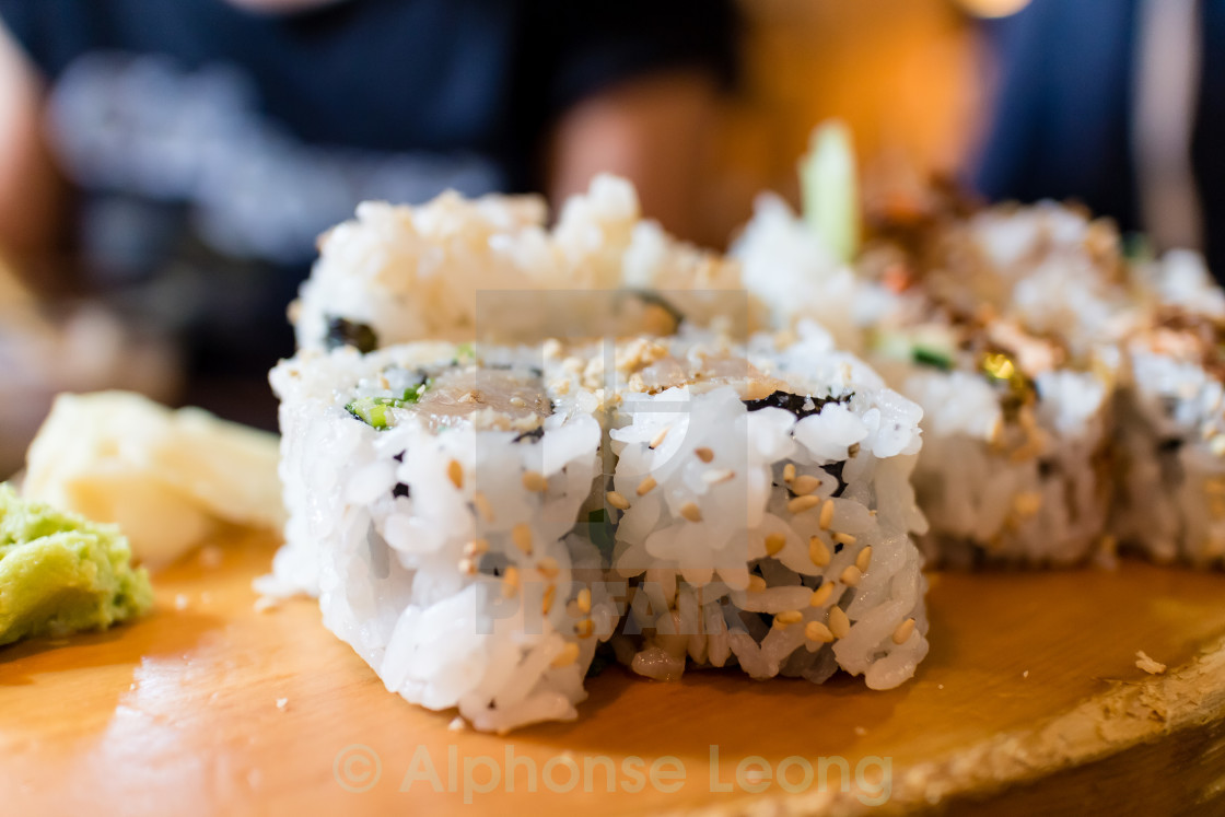 """tuna tekka roll"" stock image"