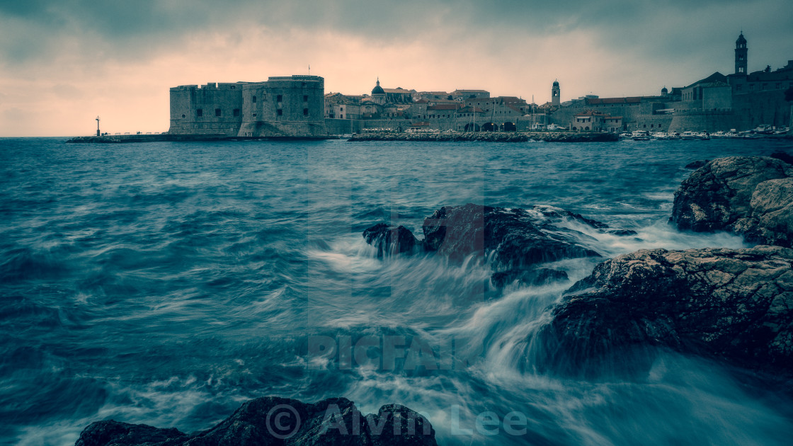 """Dubrovnik evening"" stock image"