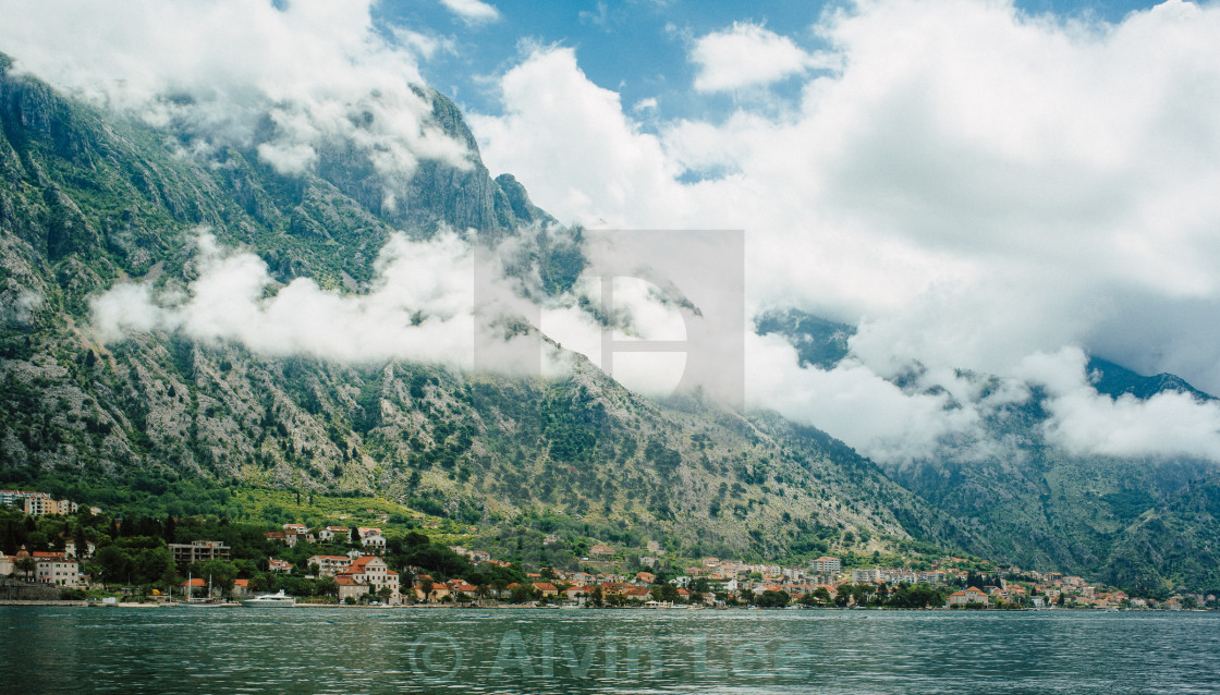 """Bay of Kotor"" stock image"