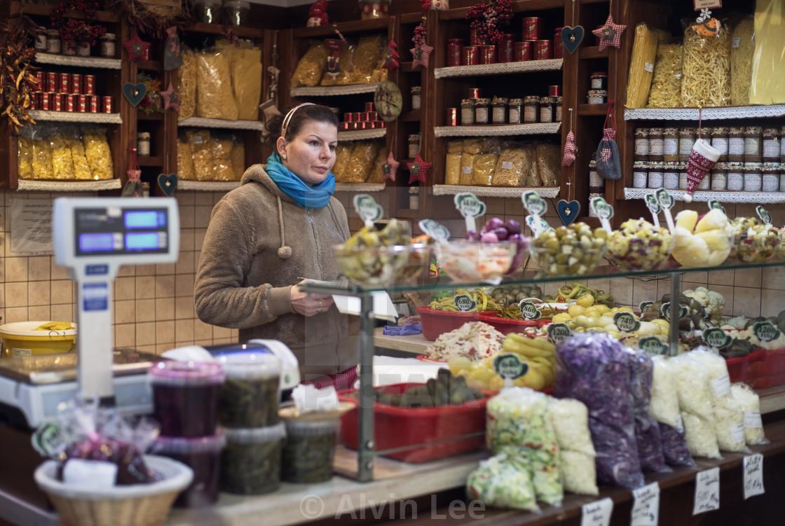 """Hungarian market foodstore"" stock image"