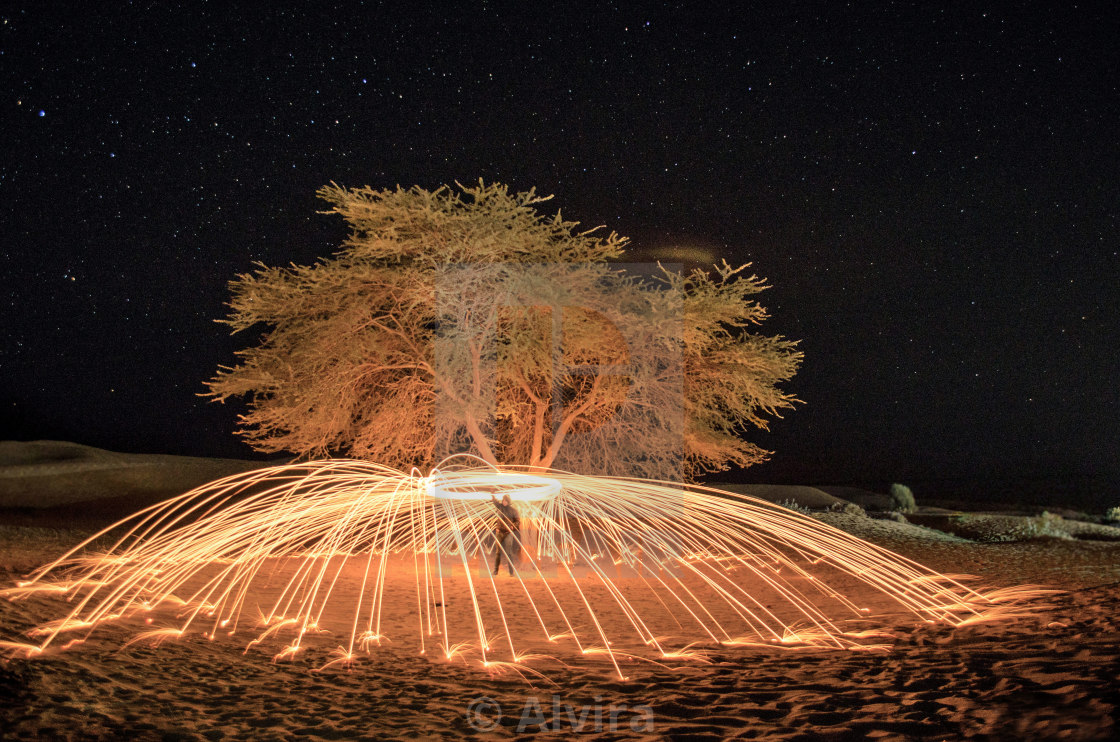 """Steel wool Photography"" stock image"