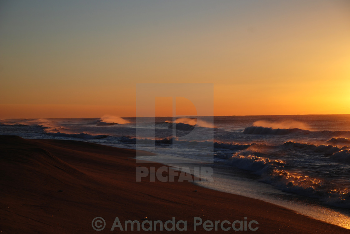 """Beach Sunrise"" stock image"
