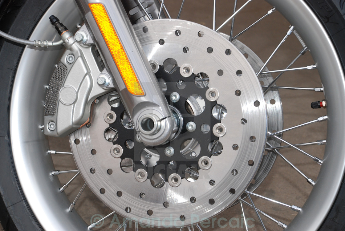 """Motorbike Wheel"" stock image"