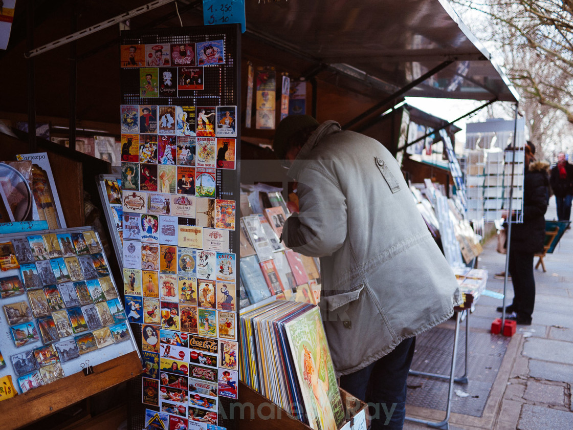 """Bouquinistes"" stock image"