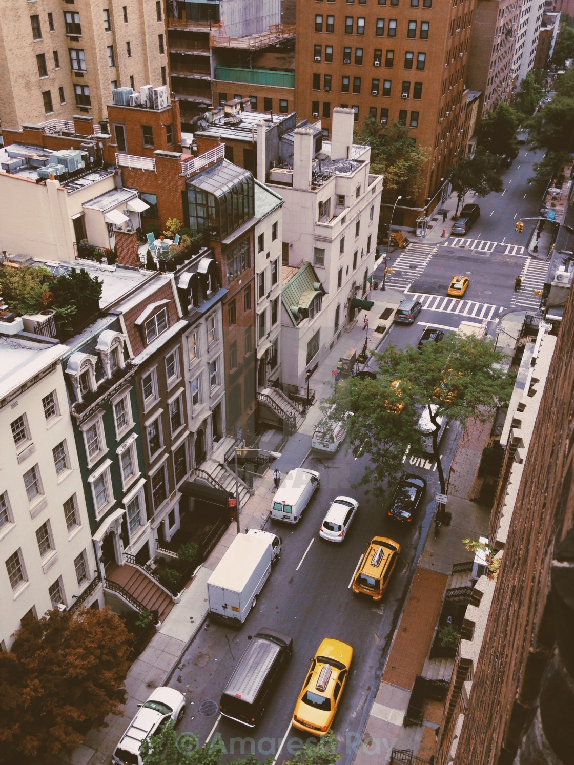 """""""NYC Rooftop view"""" stock image"""