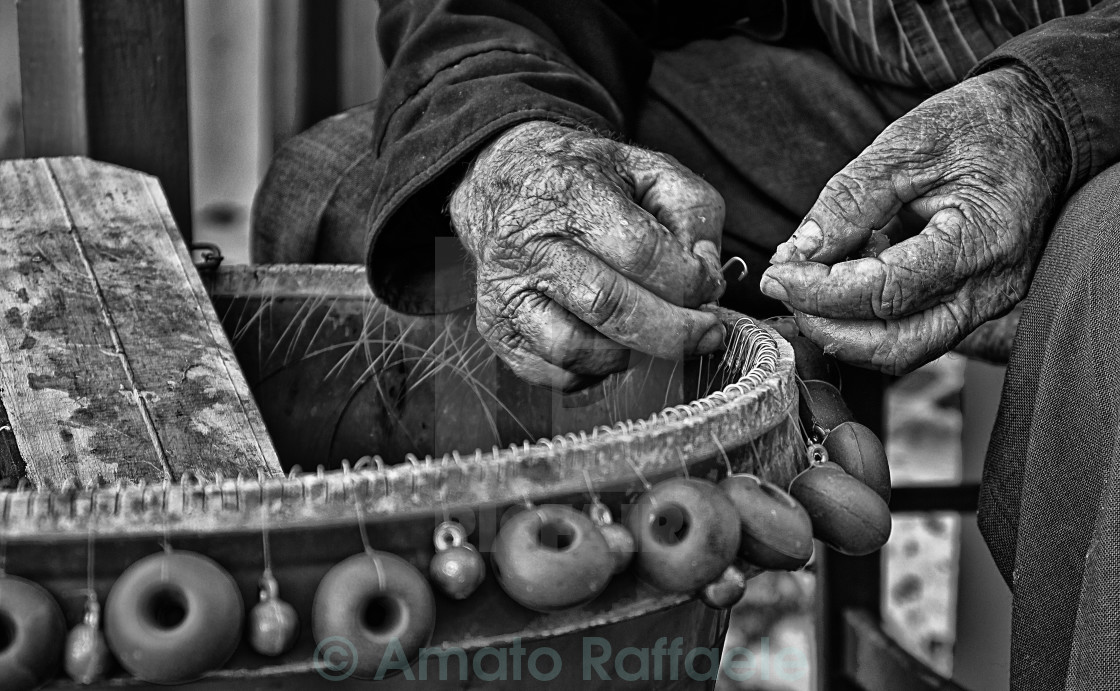 """Fisherman of Loutro village crete island"" stock image"