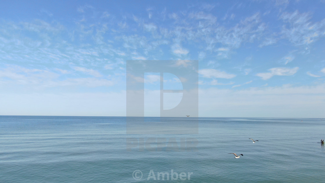"""""""Morning drone on Naples beach"""" stock image"""