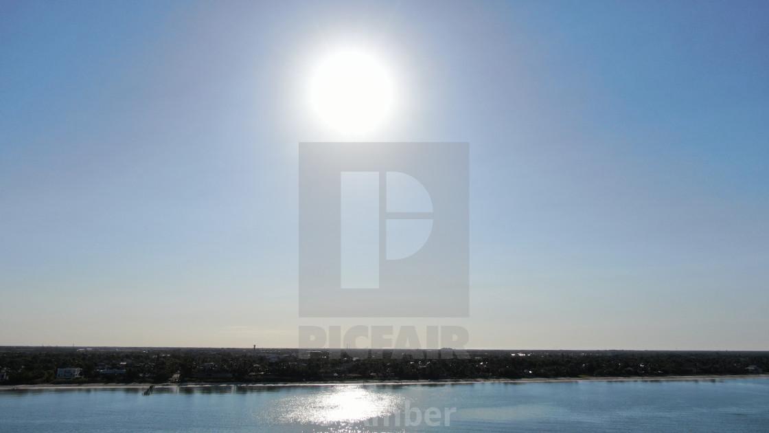 """Drone Aerial of Naples FL Sunrise"" stock image"