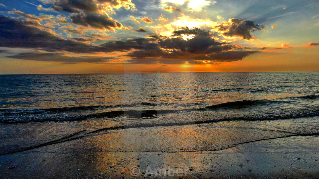 """""""Sunset to remember"""" stock image"""