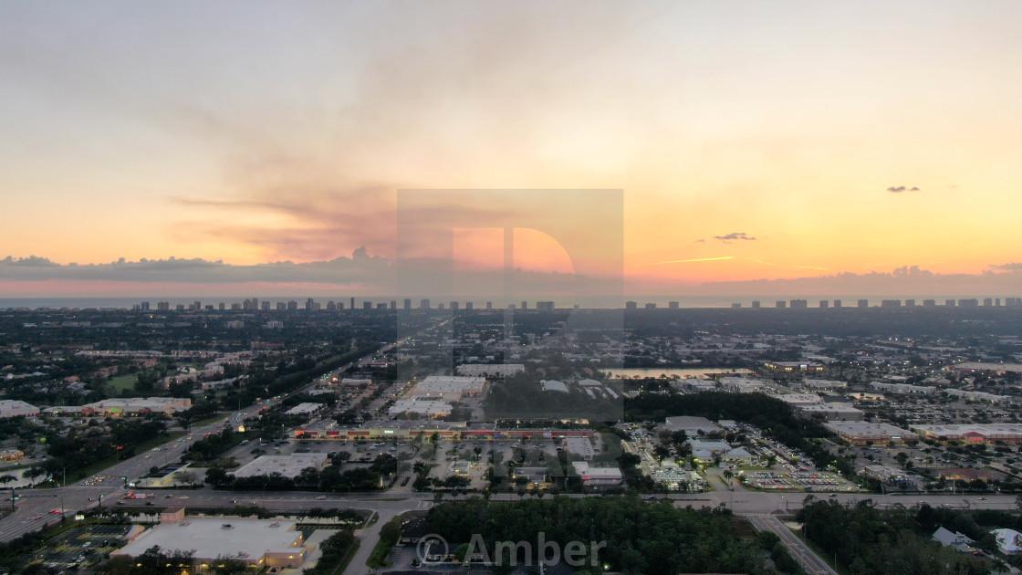 """""""Drone smoking Sunset"""" stock image"""