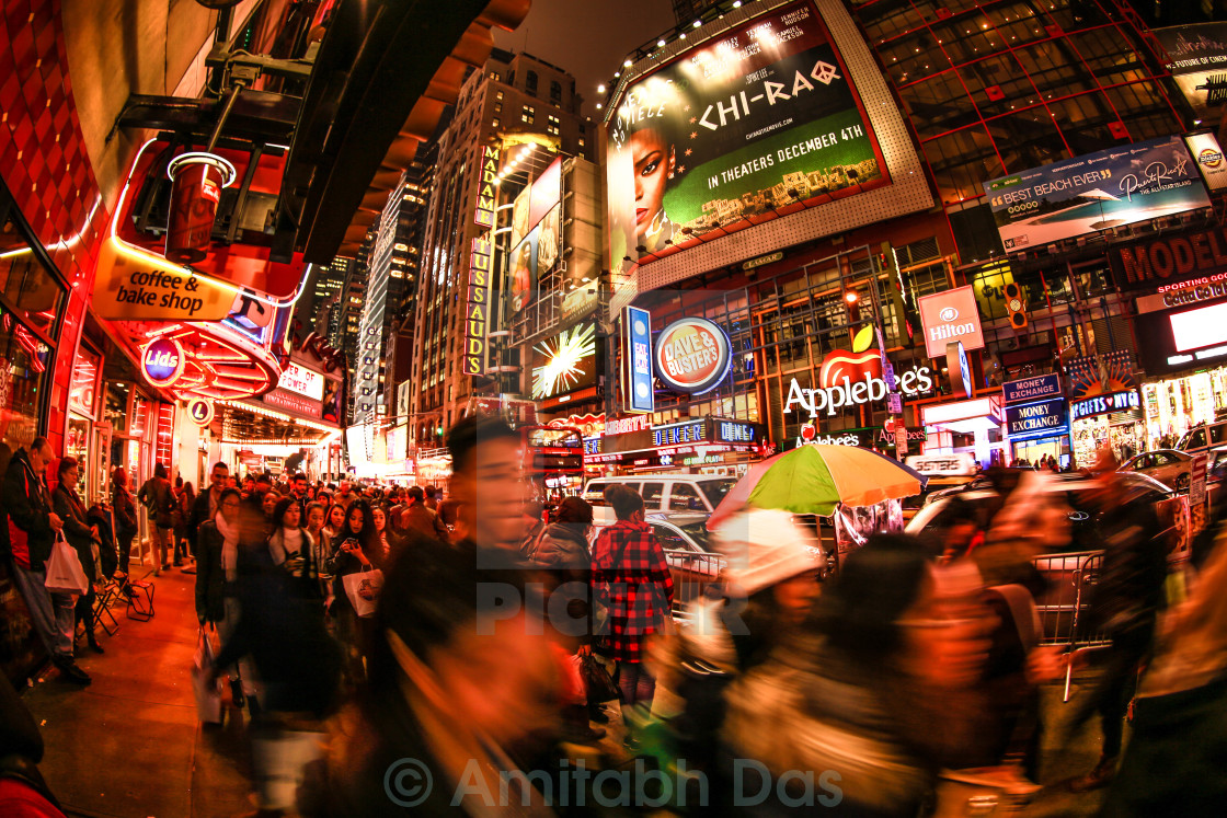 """A lane at times square"" stock image"