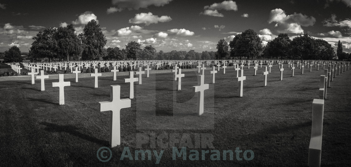 """Cambridge American Cemetery and Memorial"" stock image"