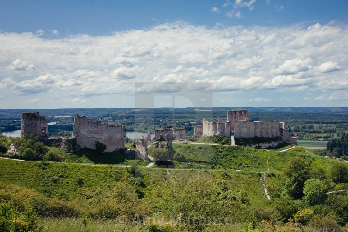 """""""Chateau Gaillard"""" stock image"""