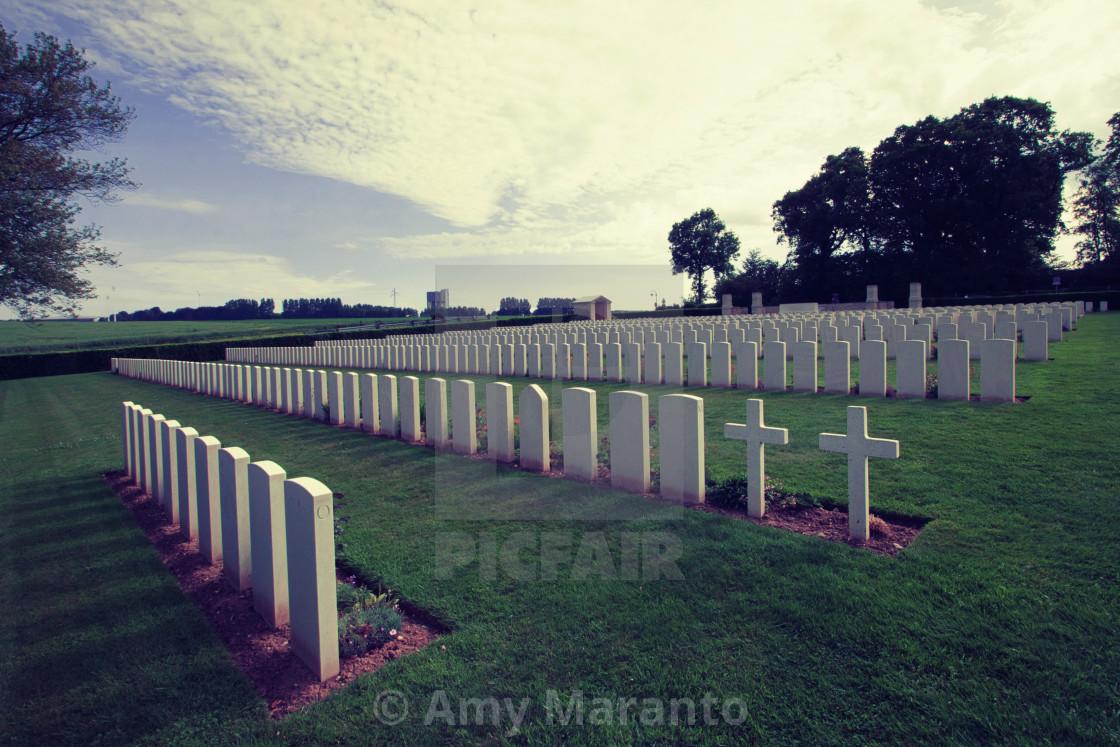 """Dieppe Canadian War Cemetery Dramatic"" stock image"