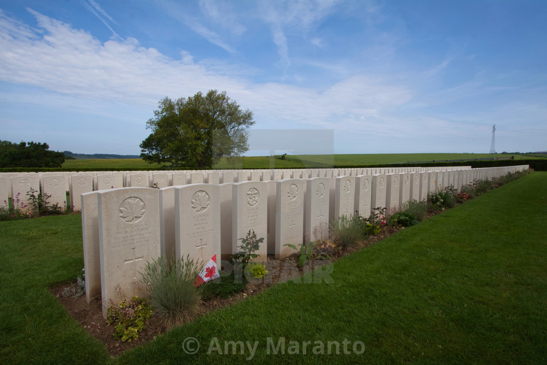 """Dieppe Canadian War Cemetery Closer View"" stock image"
