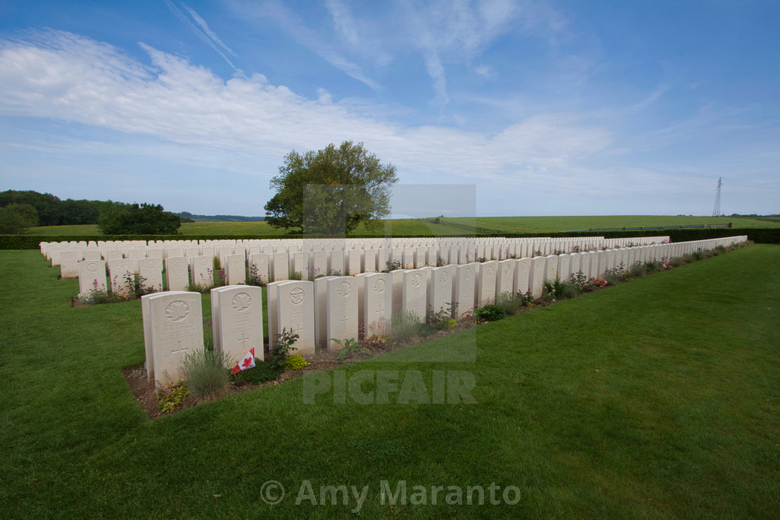"""""""Dieppe Canadian War Cemetery"""" stock image"""