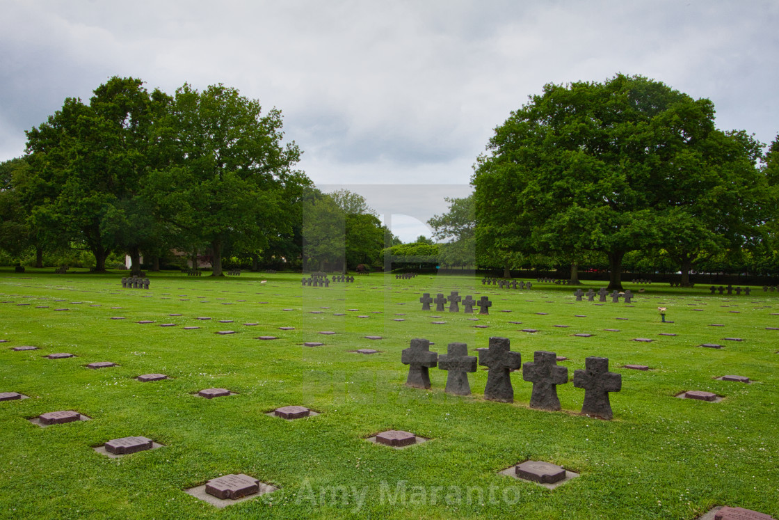 """La Cambe German War Cemetery"" stock image"