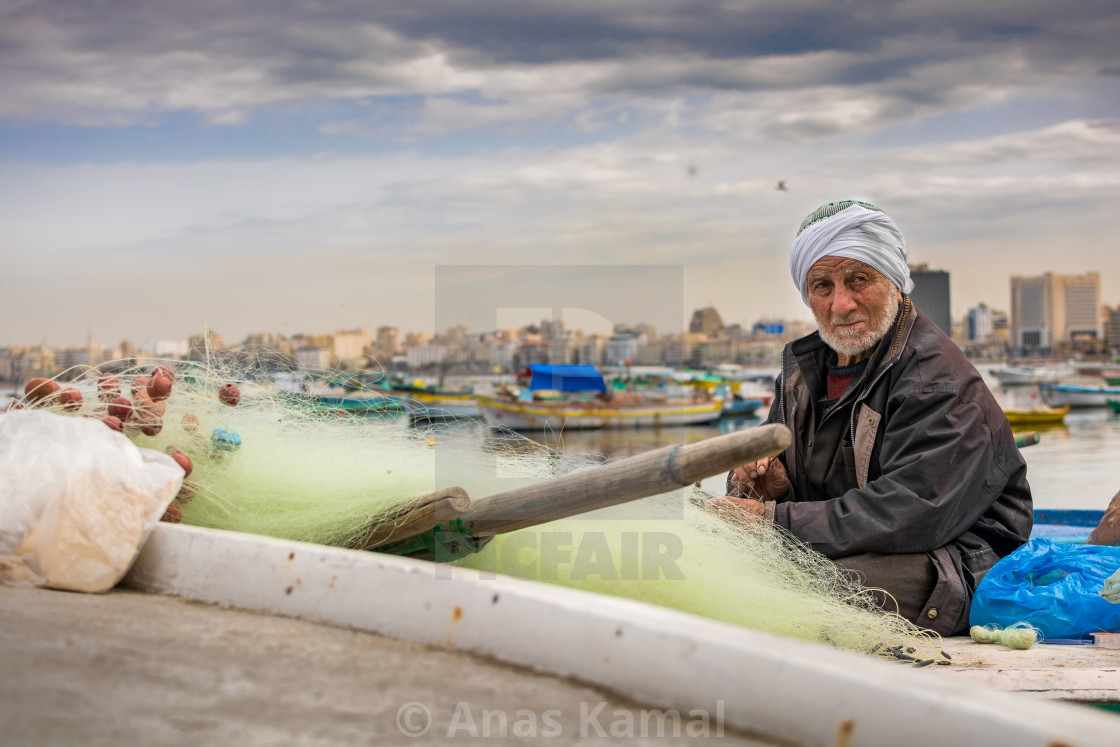 """The fisherman"" stock image"