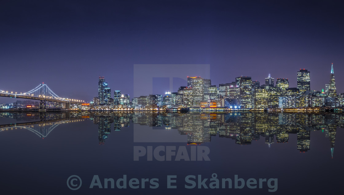 """San Franciso skyline."" stock image"