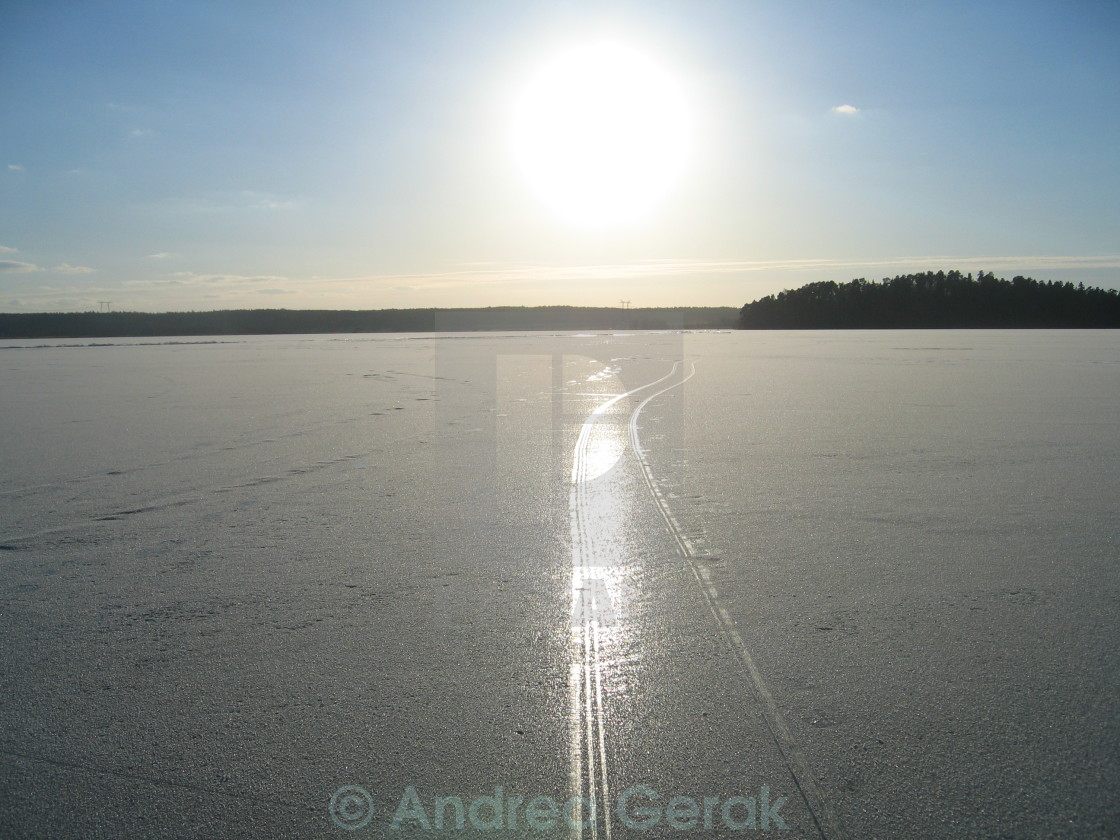"""Winter on the lake (2)"" stock image"