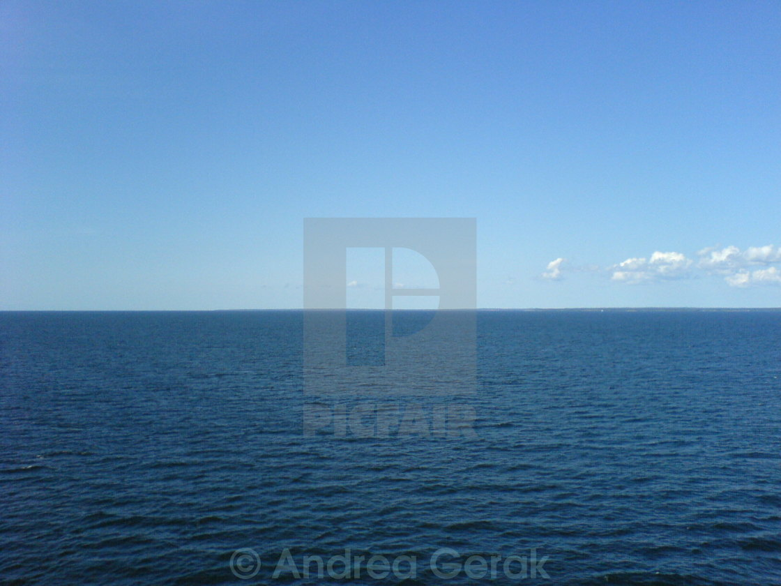 """Blue sea and sky"" stock image"