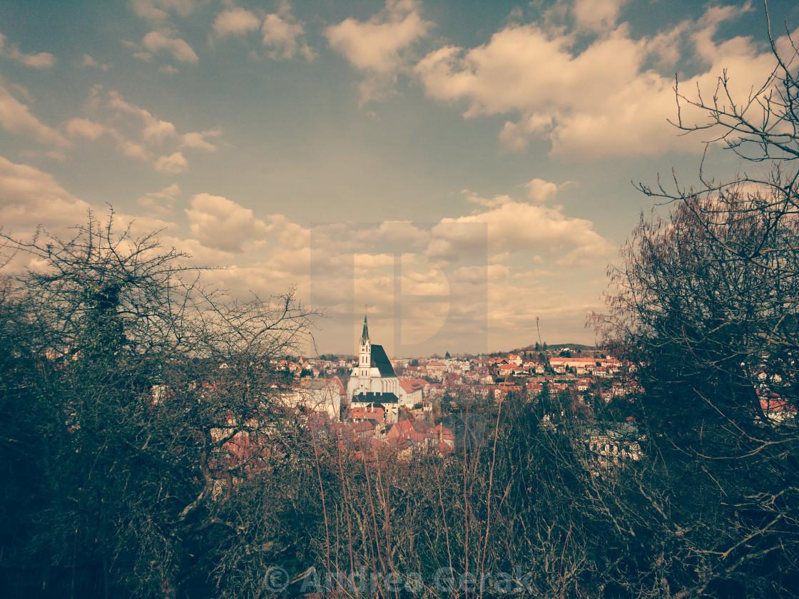 Český Krumlov, Spring Sepia
