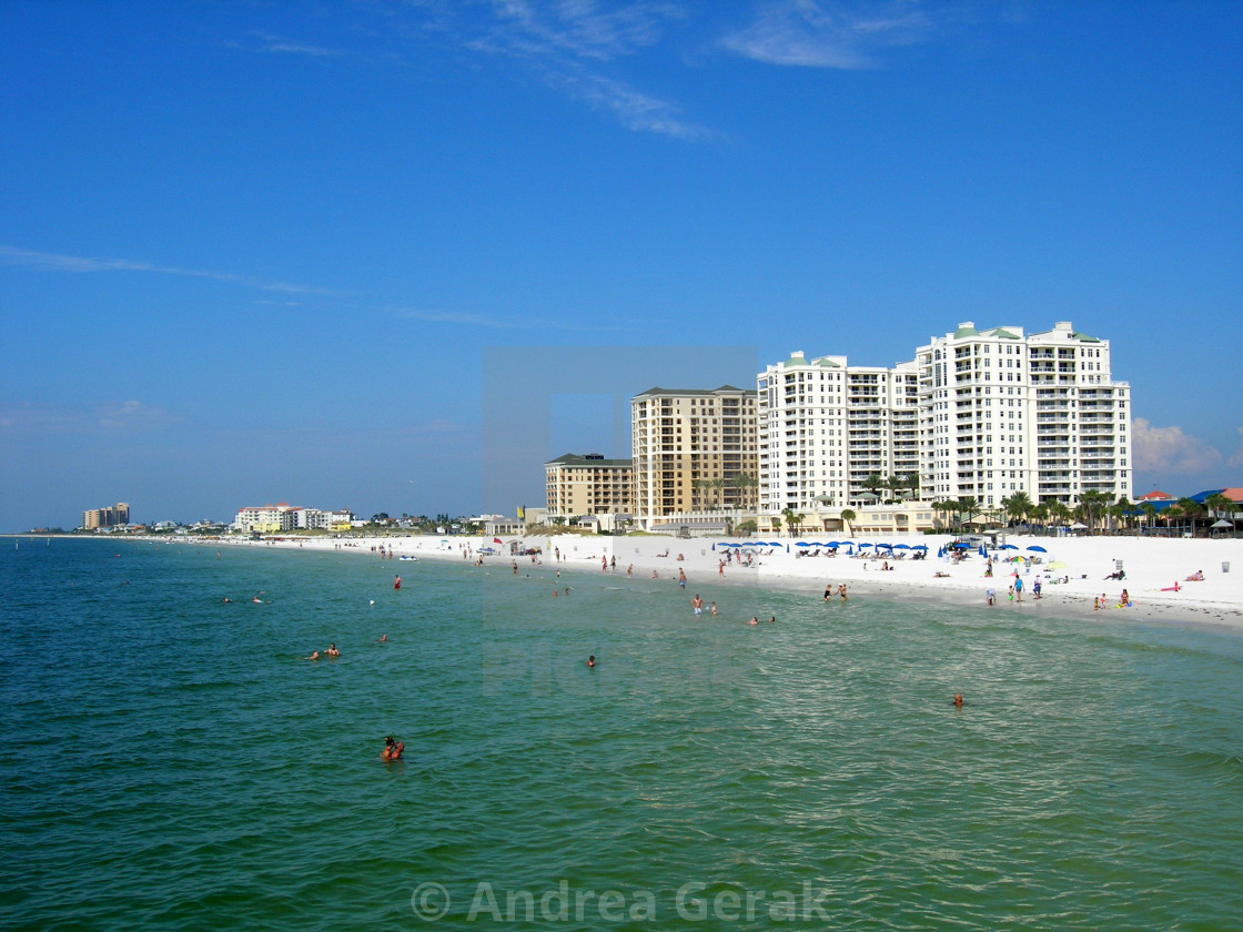 """Clearwater Beach, Florida - Blue and Green"" stock image"